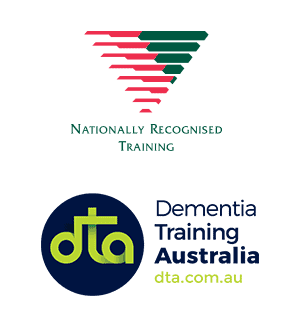 Dementia Training Australia and Nationally Recognised Training logos